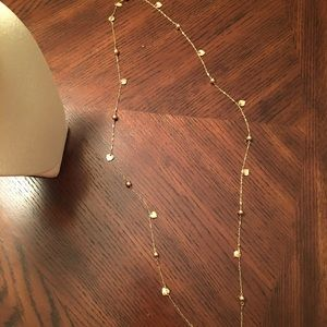 Extra Long Gold Fashion Heart Necklace